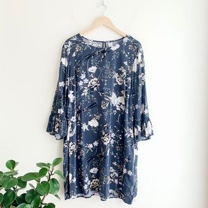 Old Navy Floral Bell Sleeve Dress